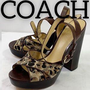 Coach Carlyn Wooden Monogram Heels (9)